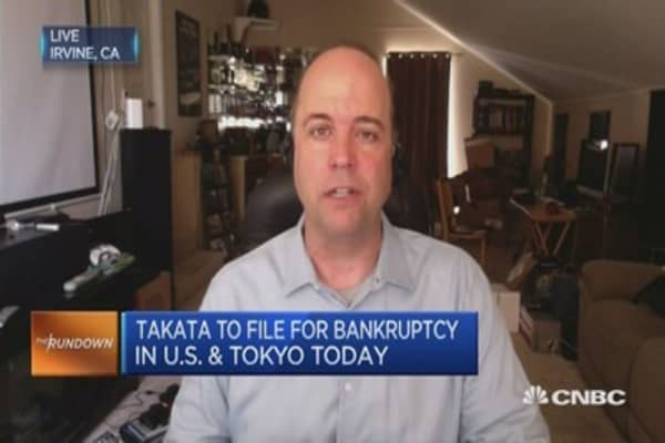 Takata bankruptcy fallout