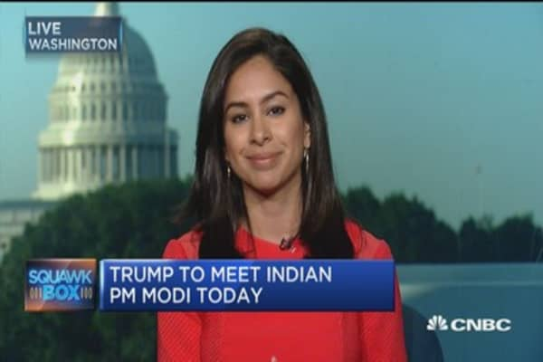 India's PM Modi meets US CEOs ahead of Trump meeting