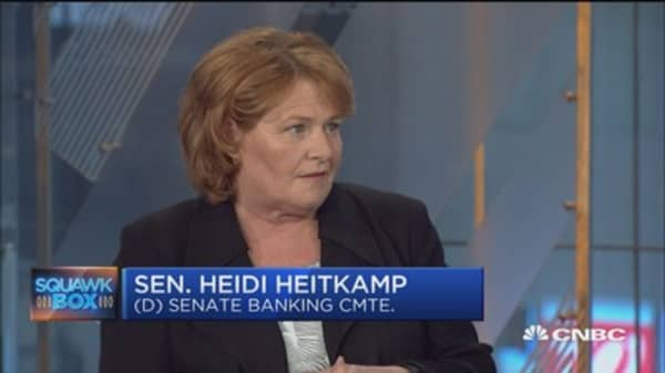 Sen. Heitkamp: GOP health-care bill 'doesn't add up'