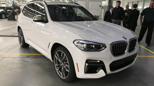 BMW X3 unveiled in South Carolina.
