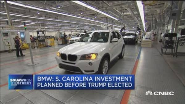 BMW adding 1,000 jobs at South Carolina plant