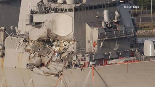 US warship stayed on deadly collision course despite warning: Container ship captain