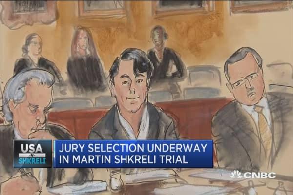 Jury selection underway in 'Pharma bro' trial