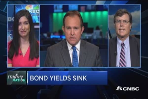 Trading Nation: Bond yields sink
