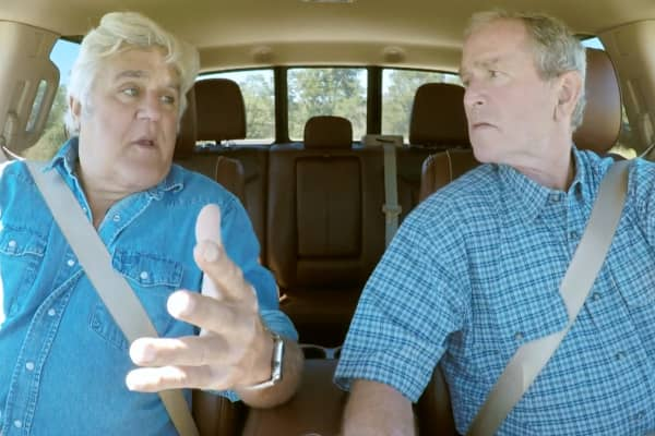 "The premiere of ""Jay Leno's Garage"" season 3 featured a familiar face: George W. Bush."