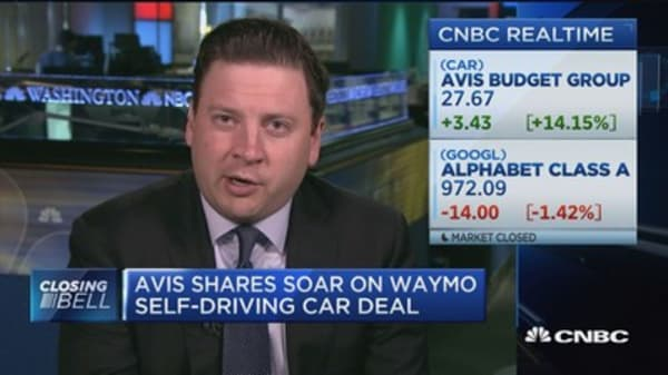 Avis shares soar on Waymo car deal