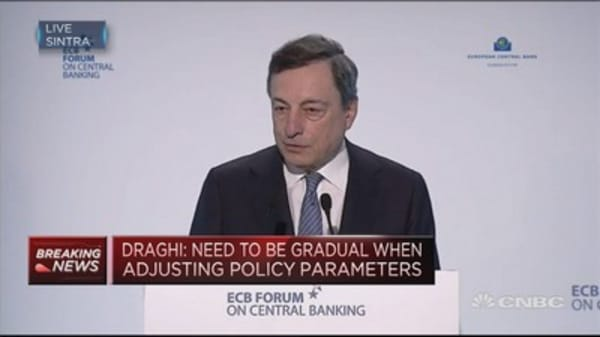 Euro area has enjoyed 60 straight quarters of growth: ECB's Draghi