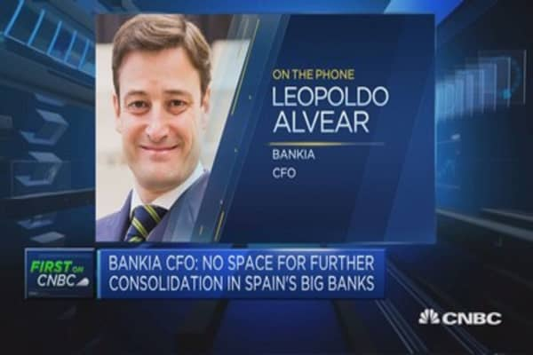 No space for further consolidation in Spain's big banks: Bankia CFO
