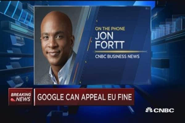 Google can appeal $2.7B EU fine