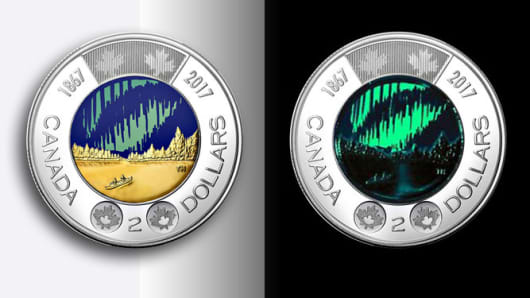 Canada Releases The First Glow In The Dark Coin Into