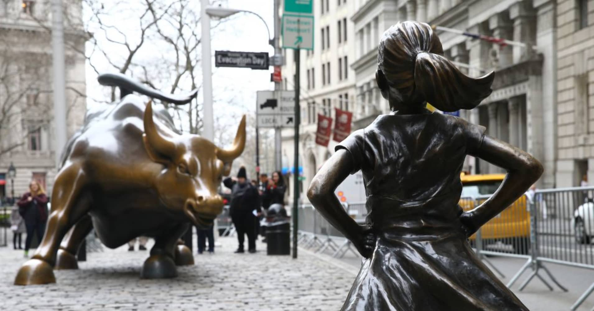 'Fearless Girl' on the move, but leaves footprints for visitors to stand in her place