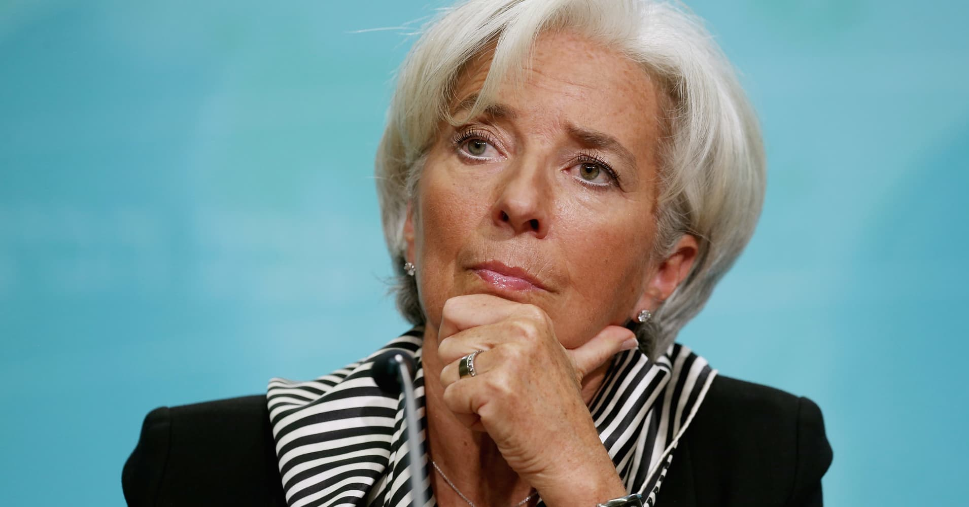 Global growth is 'probably not enough' to withstand a trade war, IMF's Christine Lagarde warns
