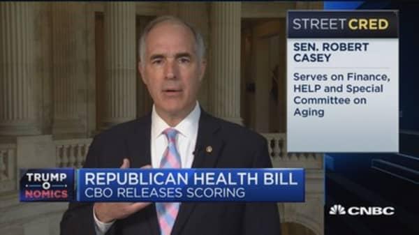 Sen. Casey: GOP health care bill is 'obscene'