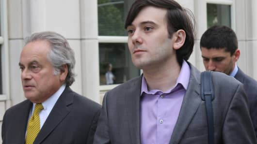 Martin Shkreli arrives to federal court in Brooklyn on June 27th, 2017.