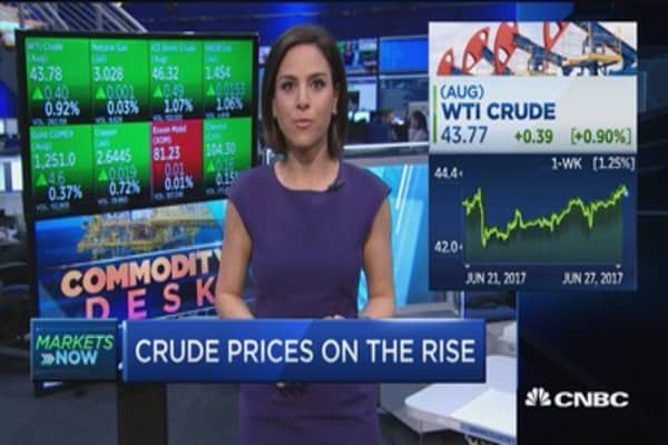 Crude prices on the rise