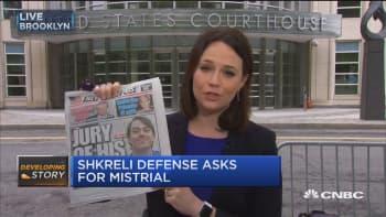 Shkreli defense asks for mistrial
