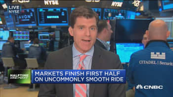 Markets finish first half on uncommonly smooth ride