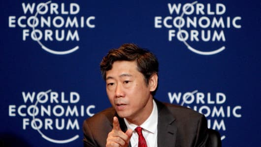 Former PBOC adviser Li Daokui (seen here at Summer Davos in 2016) says Chinese growth will accelerate in 2018 after a new crop of leaders are appointed at the 19th Party Congress.
