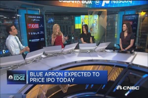 When is the blue apron ipo