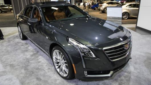A Cadillac CT6 at the 2017 Washington Auto Show in Washington, USA on February 3, 2017.