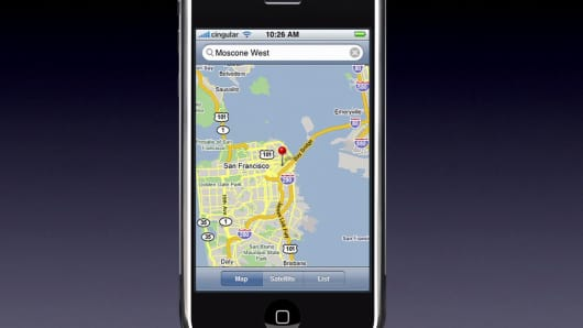 One Time Use: Apple iPhone Maps
