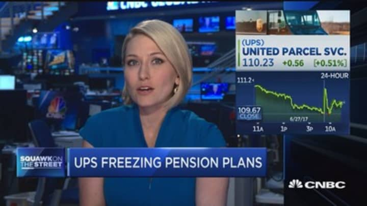 UPS to freeze pension plan for non-union employees