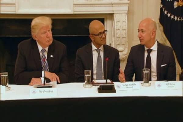 Trump takes another swipe at Amazon, saying Bezos isn't 'paying internet taxes'