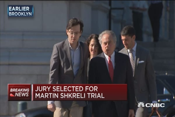 Jury selected for Martin Shkreli case