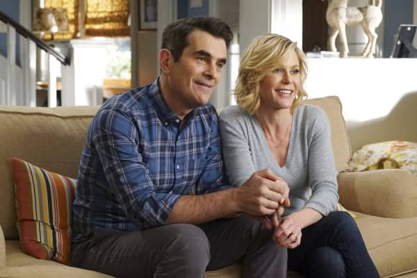 "Phil and Claire Dunphy on ABC's ""Modern Family."""