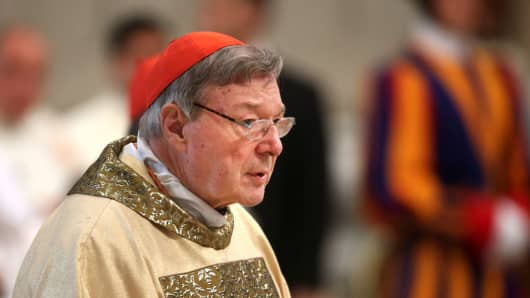 Cardinal George Pell, the former archbishop of Sydney at the Vatican City, Vatican.