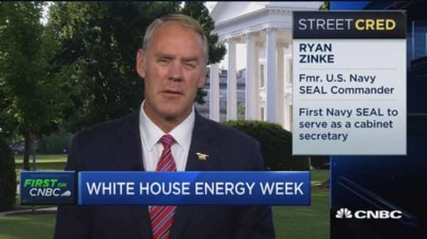 US Interior Secretary Ryan Zinke on US energy dominance