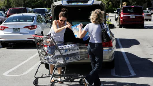 Shoppers in Coral Springs, Florida.