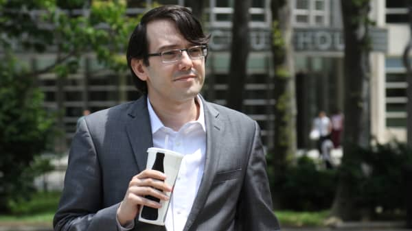 Martin Shkreli on lunch break from his court trial in Brooklyn, New York on June 29th, 2017.