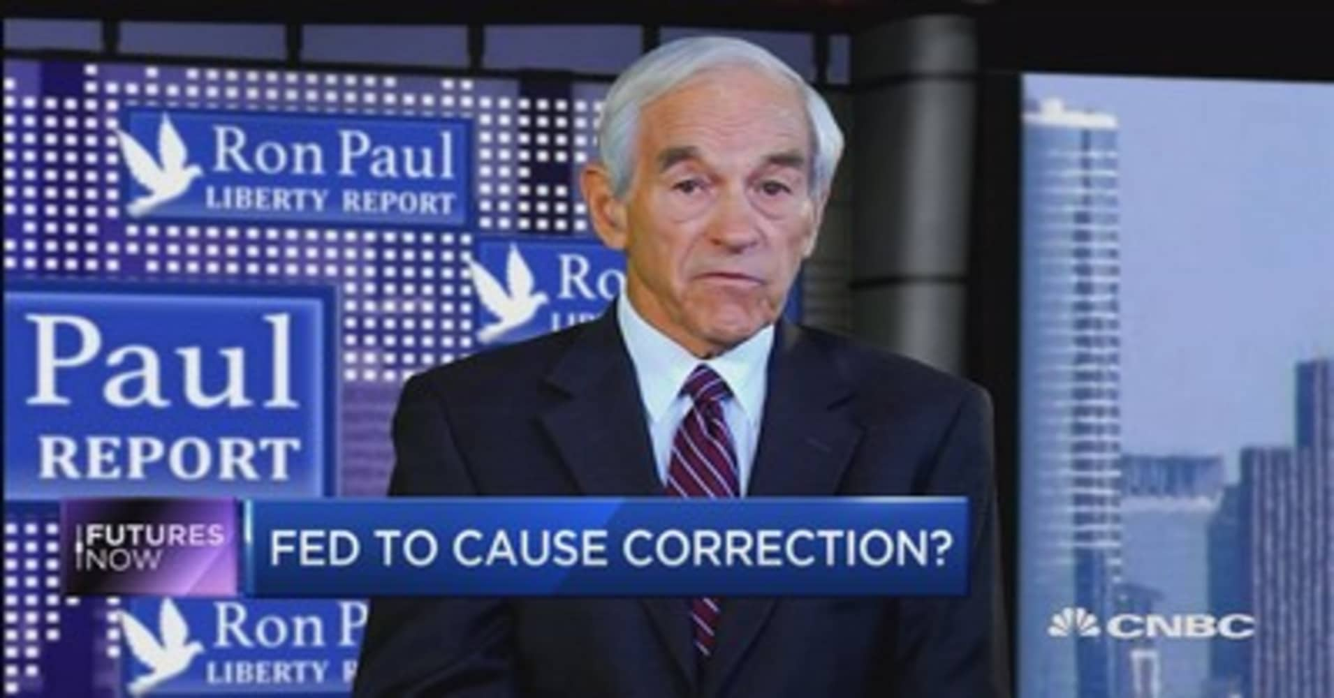 Ron Paul: Not a 'total shock' if stocks plummet 25% and gold soars 50% by October