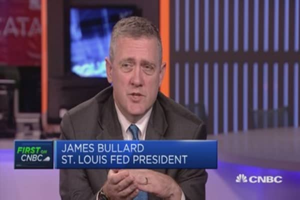 On rates, I'm the most dovish on the committee right now: Fed's Bullard