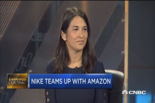 Nike's Amazon strategy just a test right now: Berenberg's Corinna Freedman