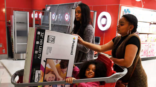 Shoppers at a Target store in Culver Citу, California.