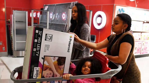 Shoppers at a Target store in Culver City, California.