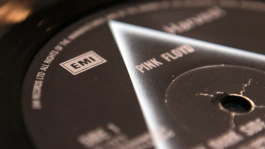 A vinyl LP for 'Dark Side of the Moon' by Pink Floyd