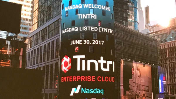 Tintri IPO at the Nasdaq in Times Square on June 30th, 2017.