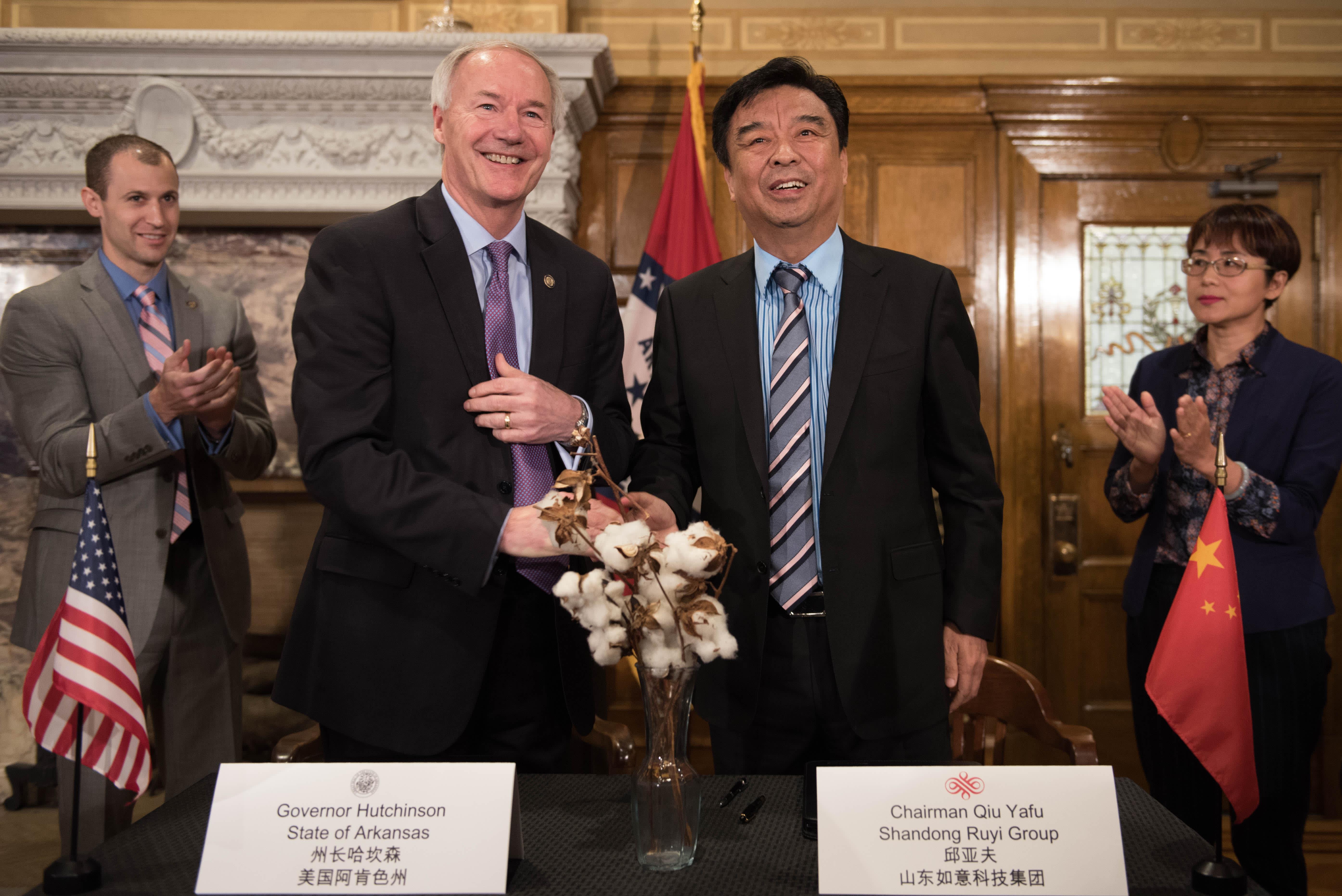 Why China is investing $1 4 billion in Arkansas: Gov  Asa