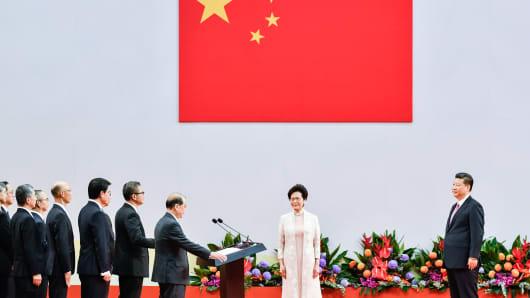 Lam Cheng Yuet-ngor sworn-in as new Hong Kong Chief Executive