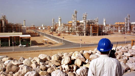The South Pars gas field is pictured in Assaluyeh, Iran.
