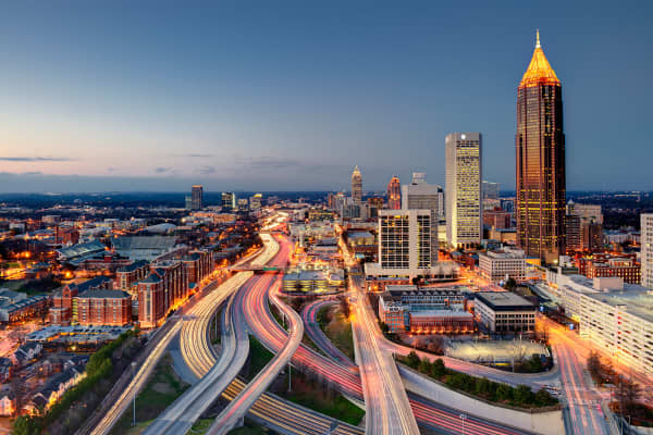 The city of Atlanta, the capital of Georgia