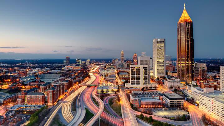 The city of Atlanta, the capital of Georgia