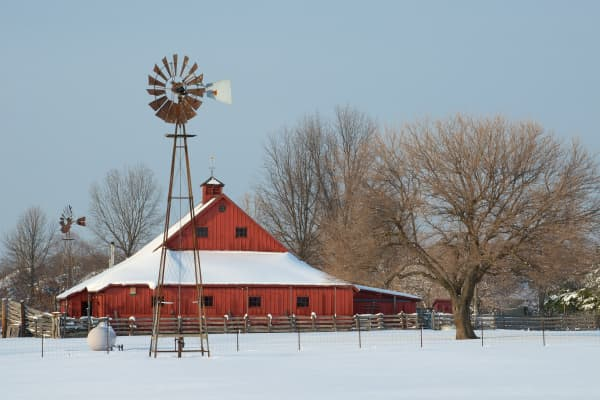 A farm in Leawood, Kansas.