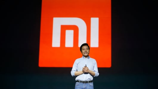Xiaomi CEO Lei Jun introduces Surge S1 chipset, Mi 5C smartphone and Redmi 4X smartphone during a press conference on February 28, 2017 in Beijing, China