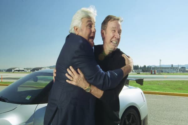 jay leno and tim allen learn to drift. Black Bedroom Furniture Sets. Home Design Ideas