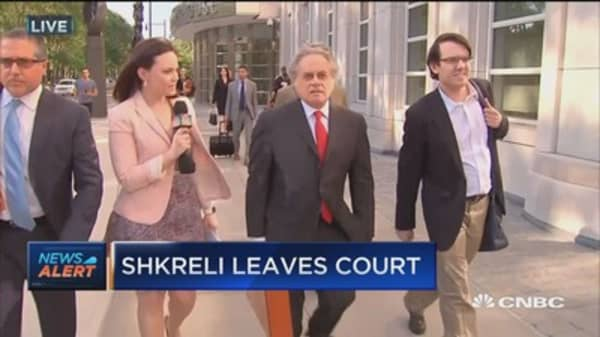 This is what Martin Shkreli's lawyer said as he was leaving the court house today
