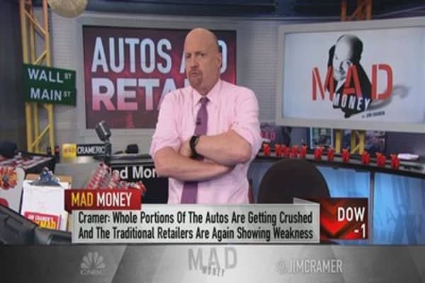 Market seems unfazed by plunges in autos, retail